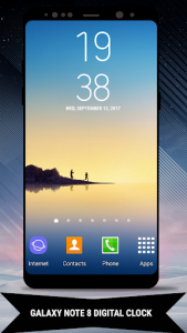 اسکرین شات برنامه Galaxy Note8 Digital Clock Widget 1