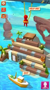 اسکرین شات بازی Rope Cut - Rescue Hero 8