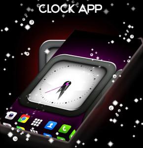 اسکرین شات برنامه Clock Live Wallpaper App 3