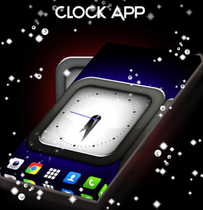 اسکرین شات برنامه Clock Live Wallpaper App 4