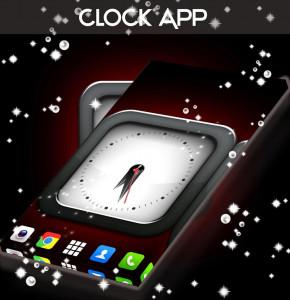 اسکرین شات برنامه Clock Live Wallpaper App 1