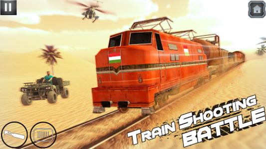 اسکرین شات بازی Indian Train Shooting- New Train Robbery Game 2k20 1