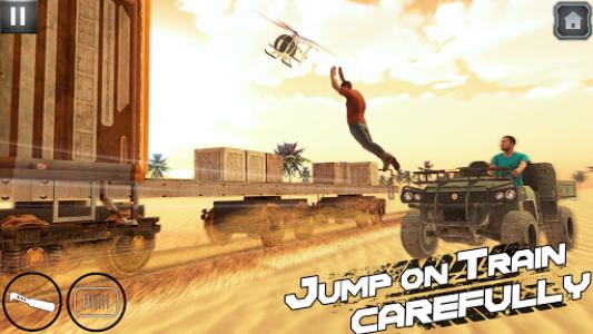 اسکرین شات بازی Indian Train Shooting- New Train Robbery Game 2k20 2
