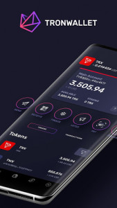 اسکرین شات برنامه TronWallet: Bitcoin Blockchain Wallet 1