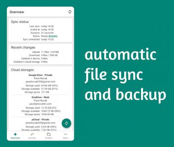 اسکرین شات برنامه Autosync - Universal cloud sync and backup 1