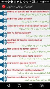 اسکرین شات برنامه آموزش ترکی استانبولی همراه با تلفظ 4