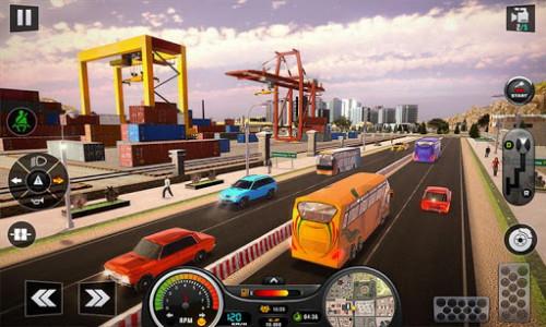اسکرین شات برنامه Euro Bus Driver Simulator 3D: City Coach Bus Games 1