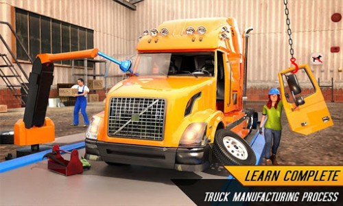 اسکرین شات بازی Truck Builder Auto Repair Mechanic Simulator Games 1
