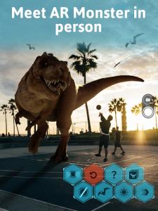 اسکرین شات برنامه Monster Park AR - Jurassic Dinosaurs in Real World 7