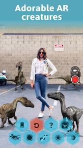 اسکرین شات برنامه Monster Park AR - Jurassic Dinosaurs in Real World 3