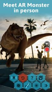 اسکرین شات برنامه Monster Park AR - Jurassic Dinosaurs in Real World 1
