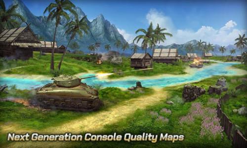 اسکرین شات بازی Tank Legion PvP MMO 3D tank game for free 1