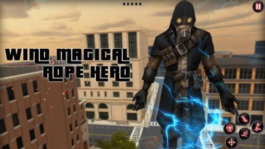 اسکرین شات برنامه wind magical rope hero 1
