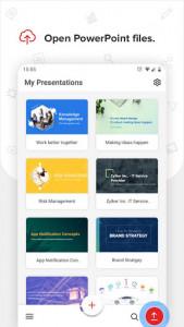 اسکرین شات برنامه Zoho Show - Presentation Tool & Slideshow creator 2