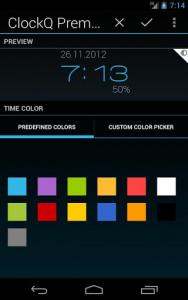 اسکرین شات برنامه ClockQ - Digital Clock Widget 4