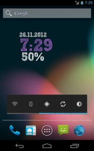 اسکرین شات برنامه ClockQ - Digital Clock Widget 2