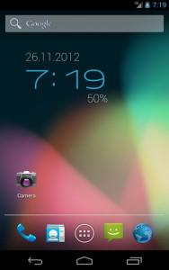 اسکرین شات برنامه ClockQ - Digital Clock Widget 1