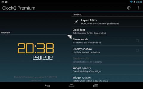 اسکرین شات برنامه ClockQ - Digital Clock Widget 6