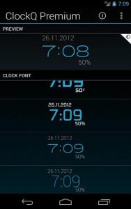 اسکرین شات برنامه ClockQ - Digital Clock Widget 3