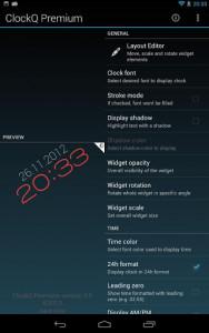 اسکرین شات برنامه ClockQ - Digital Clock Widget 7