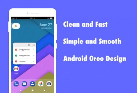 اسکرین شات برنامه DC Launcher - Android Oreo Style, Fast & Simple 1