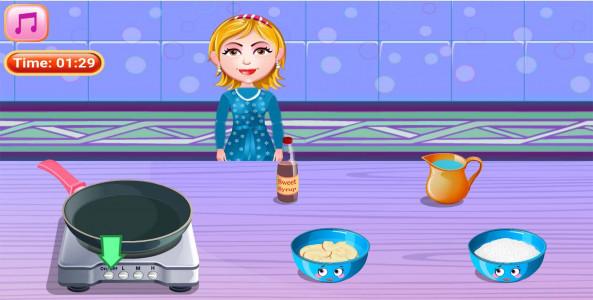اسکرین شات بازی آشپزی تهیه کیک سیب 3