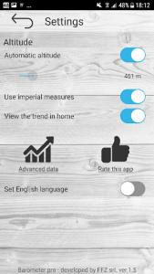 اسکرین شات برنامه Barometer pro - free 4