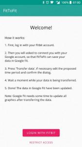 اسکرین شات برنامه FitToFit - Fitbit to Google Fit 3