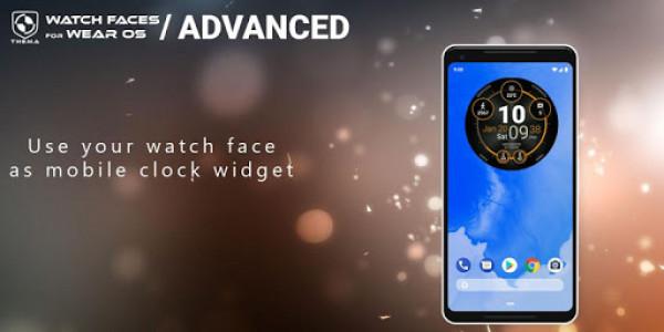 اسکرین شات برنامه Advanced Watch Face & Clock Widget 4