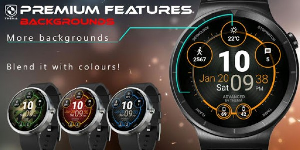 اسکرین شات برنامه Advanced Watch Face & Clock Widget 7