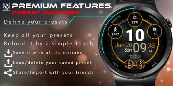 اسکرین شات برنامه Advanced Watch Face & Clock Widget 8