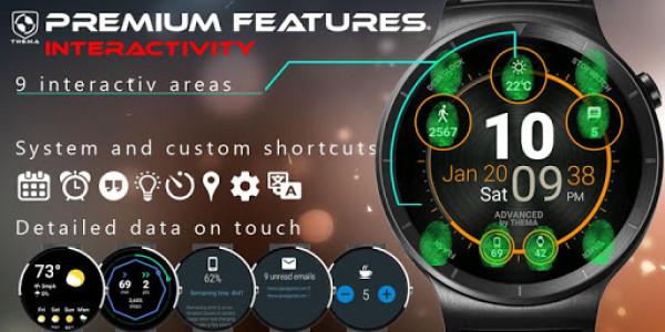 اسکرین شات برنامه Advanced Watch Face & Clock Widget 5