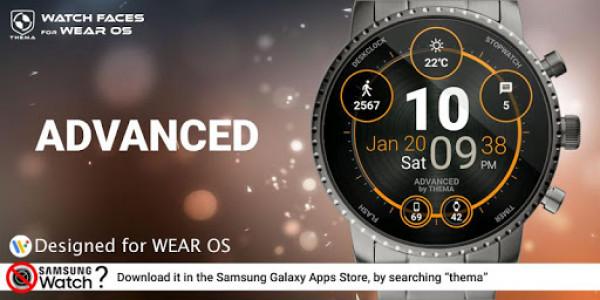 اسکرین شات برنامه Advanced Watch Face & Clock Widget 1