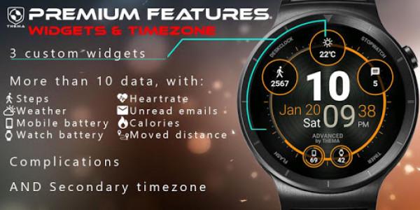 اسکرین شات برنامه Advanced Watch Face & Clock Widget 6