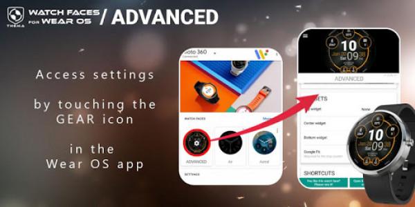 اسکرین شات برنامه Advanced Watch Face & Clock Widget 3