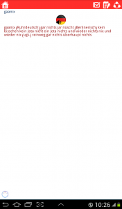 اسکرین شات برنامه دیکشنری آلمانی به فارسی و بالعکس 6