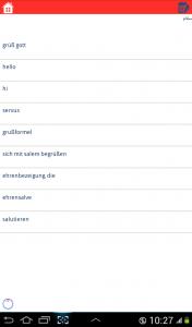 اسکرین شات برنامه دیکشنری آلمانی به فارسی و بالعکس 5