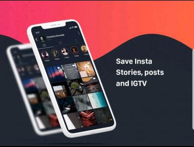 اسکرین شات برنامه دانلود استوری اینستا (پست+IGTV) 1