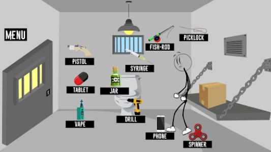 اسکرین شات بازی Stick Jailbreak 2019 : Funny Escape Simulation 1