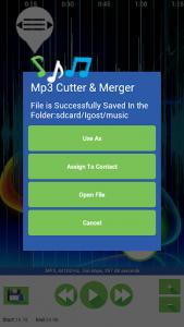 اسکرین شات برنامه Mp3 Cutter & Merger 4