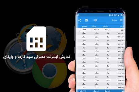 اسکرین شات برنامه مدیریت حجم اینترنت (دیتایار) 3