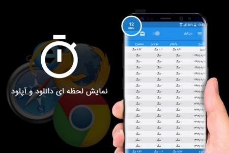 اسکرین شات برنامه مدیریت حجم اینترنت (دیتایار) 2