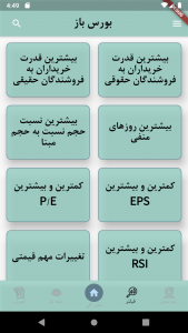 اسکرین شات برنامه بورس باز  سیگنال و راهکار جامع بورس 4
