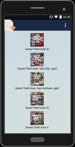 اسکرین شات برنامه رمزهای کامل gta 1