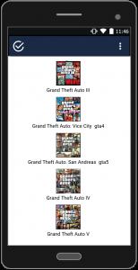 اسکرین شات برنامه رمزهای بازی جی تی آی 2