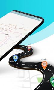 اسکرین شات برنامه نقشه و مسیریاب دال 6