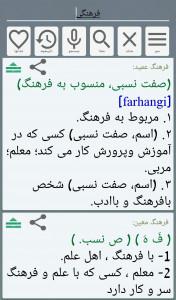 اسکرین شات برنامه فرهنگ لغت فارسی معین و عمید 6