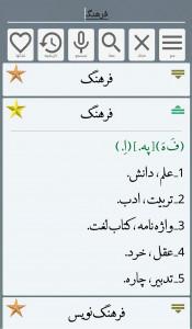 اسکرین شات برنامه فرهنگ لغت فارسی معین و عمید 2