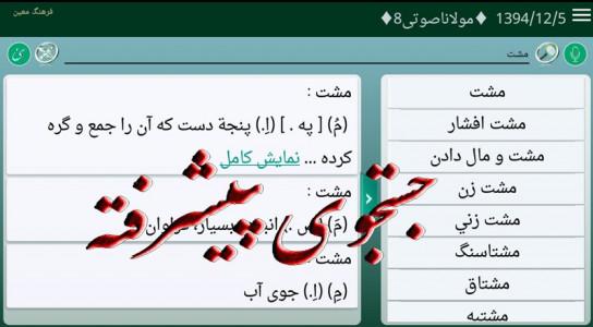 اسکرین شات برنامه فرهنگ لغت معین واژه نامه معین 5
