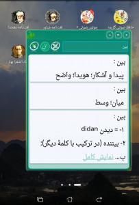 اسکرین شات برنامه فرهنگ لغت معین واژه نامه معین 7